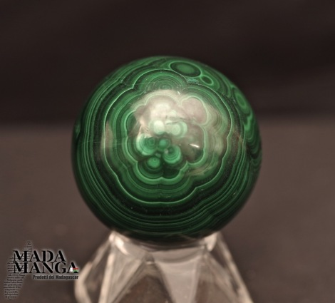 Sfera in Malachite cm.4,5